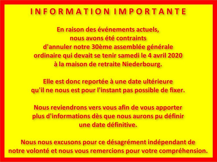 Inormation importante